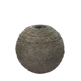 Small Stacked Slate Sphere Fountain