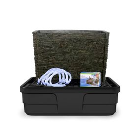 """Stacked Slate Spillway Wall 32"""" Landscape Fountain Kit"""